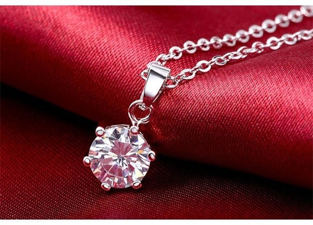 95% OFF!!! 100% Real 925 Sterling Silver Jewelry Sets For Women Luxury 6mm CZ Diamant Wedding Bridal Jewelry Sets African JZR009