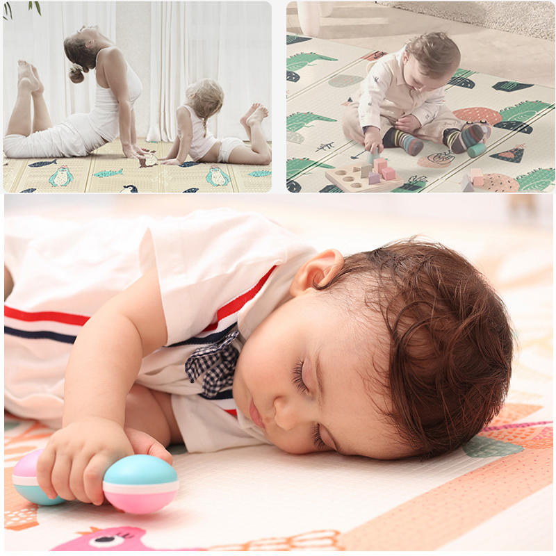 150X200CM Infant Baby Foldable Yoga Play Mat Thickened Home Baby Room Xpe Puzzle Child Climbing Mat Yoga Folding Mat Baby Carpet