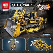 NEW LEPIN 20008 technic series 1384pcs the bulldozer Model Building blocks Bricks kits Compatible 8275 boy brithday gifts
