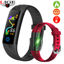 Купить с кэшбэком LIGE Men Women Sports Waterproof Smart Bracelet Smart Watch Fitness Heart rate Blood Oxygen Monitoring Pedometer Smart Wristband