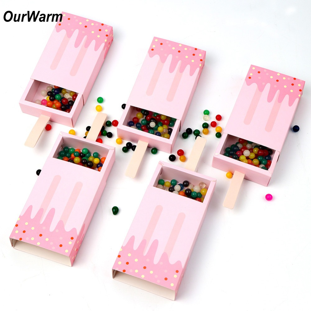 OurWarm 10Pcs Paper Gift Box Ice Cream Party Decorations Popsicle ...