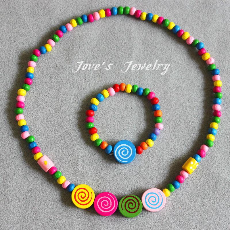 Free shipping Min.order $15 (mix order) handmade jewelry ! Children necklace bracelet Fashion jewelry