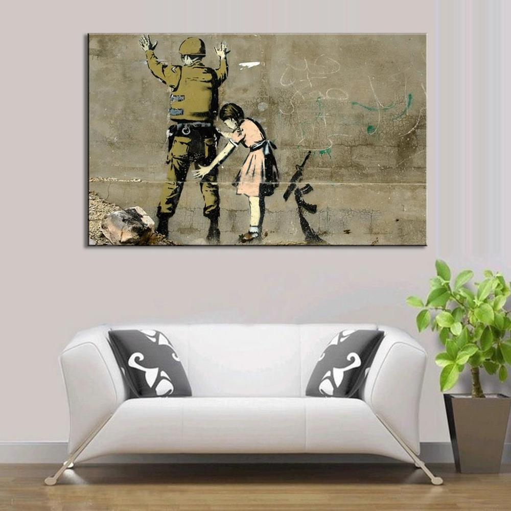 online get cheap banksy art aliexpress com alibaba group banksy art anti war wall pictures for bedroom large banksy search body street artwok painting for