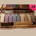 Hot beleza maquiagem 9 cores da paleta da sombra mulheres diamante brilhante brilhando sombra colorida do flash brilho compo o jogo com escova
