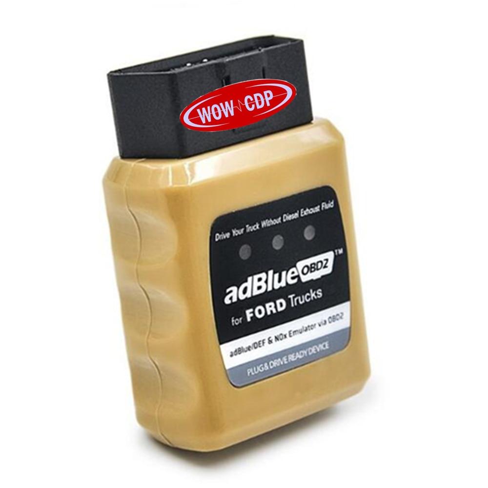Prix pour Nouveau Design AdblueOBD2 Adblue OBD2 pour Ford Nox Émulateur via OBD2 soutien EURO4/5/6 Camion Auto Diagnostic Interface Livraison Gratuite