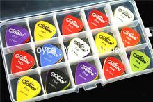 100pcs Alice Sandblast Nylon Acoustic Electric Guitar Picks Plectrums+1 Large Plastic Holder Case Box Free Shipping
