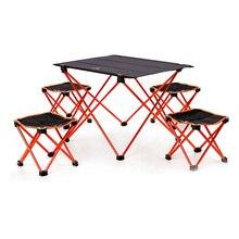 Mesa plegable portátil para acampar, barbacoa, senderismo, viajar, pícnic al aire libre, aleación de aluminio 7075, ultraligera, M L