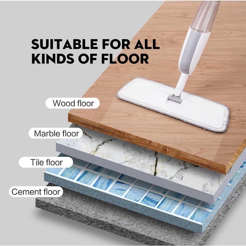 スプレーモップ再利用可能なマイクロファイバーパッド 360 度金属ハンドルモップ家庭用キッチンラミネート木材セラミックタイル床クリーニング
