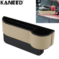KANEED Car Seat Crevice Storage Box Cup Drinker Holder Grain Organizer Gap Stowing Tidying for Phone Card Coin Case Accessories