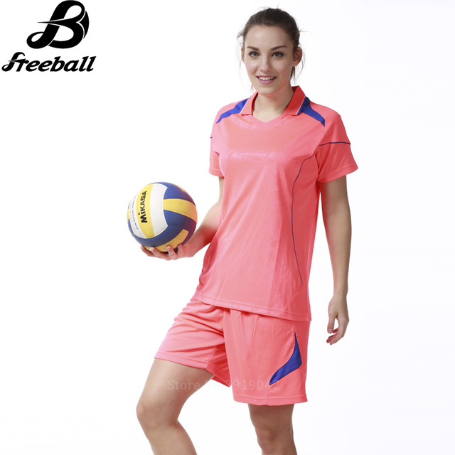 2017 New professional Women Volleyball Sets Quick dry Short Sleeve  Polyester Volleyball Jerseys Uniforms Kits Survetement Volley 305e92a52265f