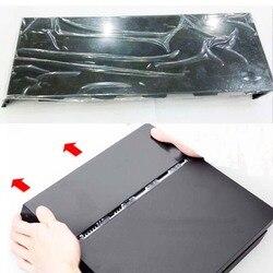 Czarny błyszczący uniwersalny dysk twardy HDD pokrywy skrzynka dla Playstation 4 PS4 płyta czołowa CUH-1000 do 1200 ze srebrnym logo