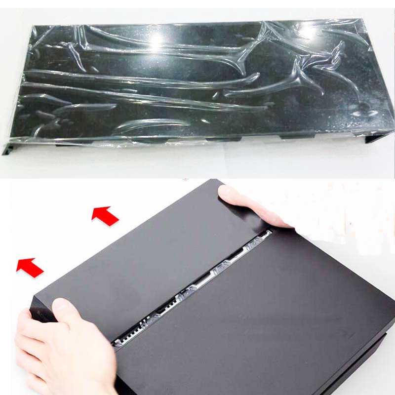 Glossy Black Universal HDD hard Disc Drive Cover Case   for Playstation 4 PS4 Faceplate CUH-1000 to 1200 With Silver logo