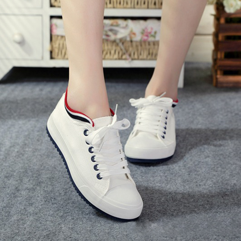Casual Canvas Shoes Women Spring Summer Ladies White Sneaker