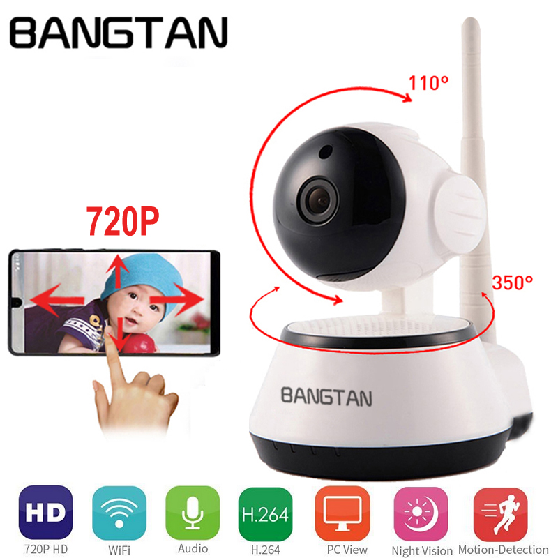Home Security Wi-Fi IP Camera Wireless WiFi Camera Surveillance 720P Two Way Audio Night Vision CCTV Network Baby monitor