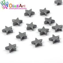 Olingart натуральный камень черный гематит звезды 6 мм/100 шт