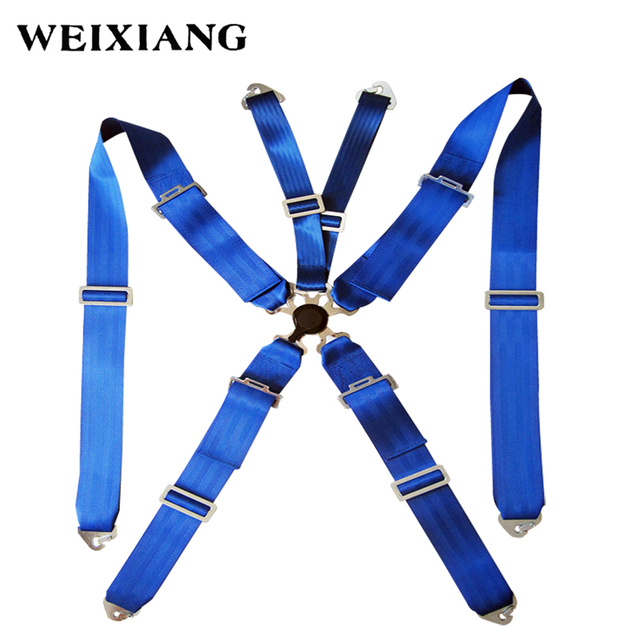 5 Point 3 Inches Racing Harness Racing Satefy Seat Belt Quick Release  Camlock Black Blue Red-in Seat Belts & Padding from Automobiles &  Motorcycles on