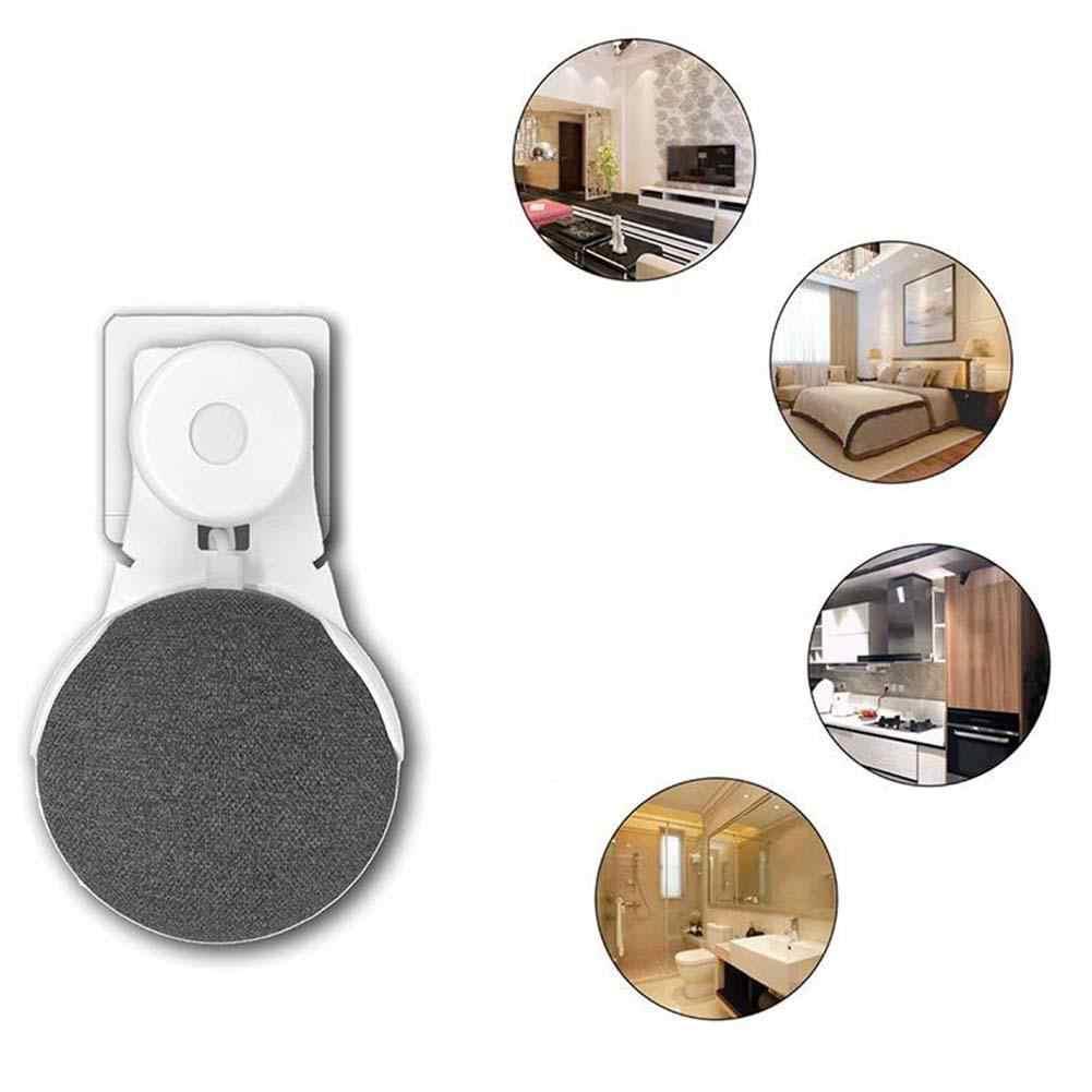 Soporte de montaje en pared con salida de altavoz inteligente para Google Home Mini asistente de voz Pared de ABS titular de montaje