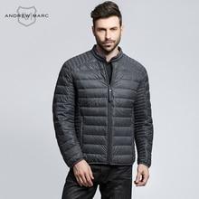 ANDREW MARC MNY 2016 Men 90% Grey Duck Down Ultralight Coat Warm-keeping Slim Man Autumn Fall Parkas Coats TM6AD214
