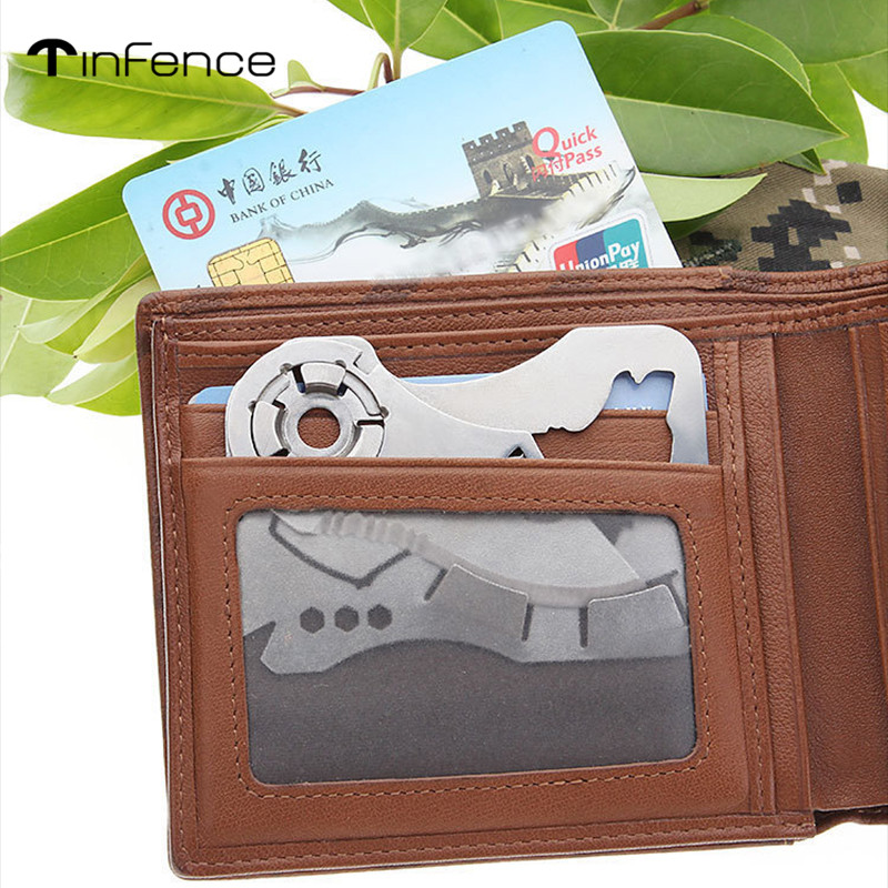 RFID Blocking EDC Men/'s Military Tactical Metal /& Leather Wallet Up to 12 Card