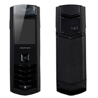 K9 Stainless Metal Real Leather Housing Invisible Key Camera Dual Sim Card Bluetooth Dialer Luxury Senior