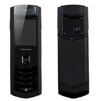 K9 Stal Metal Prawdziwe Skórzane Obudowa Niewidoczne Klawisz Aparatu Dual Sim Karty Bluetooth Dialer Luksusowe Starszy Telefon Komórkowy P281