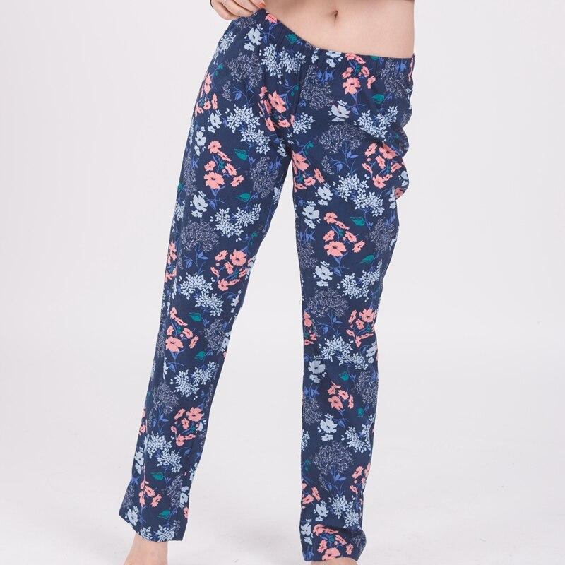Freies Verschiffen Frauen Baumwolle Pyjamas Hosen Plus Größe Frau Komfortable Schlaf Bottoms Dünne Lose Hause Hosen Femme 50-90kgs Elegant Und Anmutig