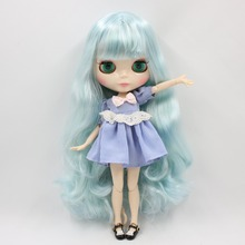 Factory Neo Blythe Doll Blue Mix Mint Hair Jointed Body 30cm