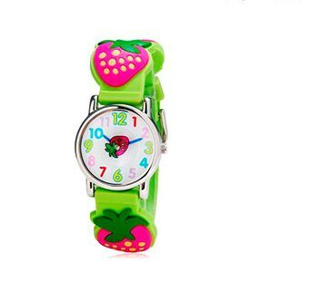 High quality Fashion Casual strawberry Brand Quartz Wrist Watch Children Waterproof Watches For Girls gift watch for girls strawberry waterproof kid watches brand quartz wrist watch baby girls boys fashion casual reloj