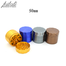 New pure color 4-layer tobacco grinder, creative personality and lack of horn 4 colors optional, free delivery