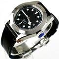 41 мм Corgeut черный циферблат 2017 Топ бренд класса люкс новейшее горячее сапфировое стекло  Автоматические Мужские t мужские часы