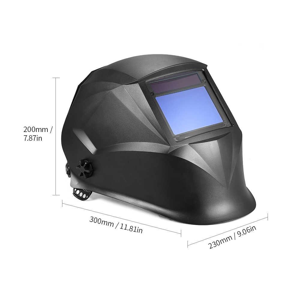 Солнечный Мощность сварочных работ Сварщик Маска авто затемнение фильтр сварочный шлем TIG миг с регулируемым оголовьем 4 оптические сенсоры