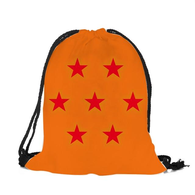 ea508da271 Japanese Cartoon Anime String Backpack Dragon Ball 3D Printing Drawstring  Bag Travel GYM Sport Shoulder Bags Women Boy Girl
