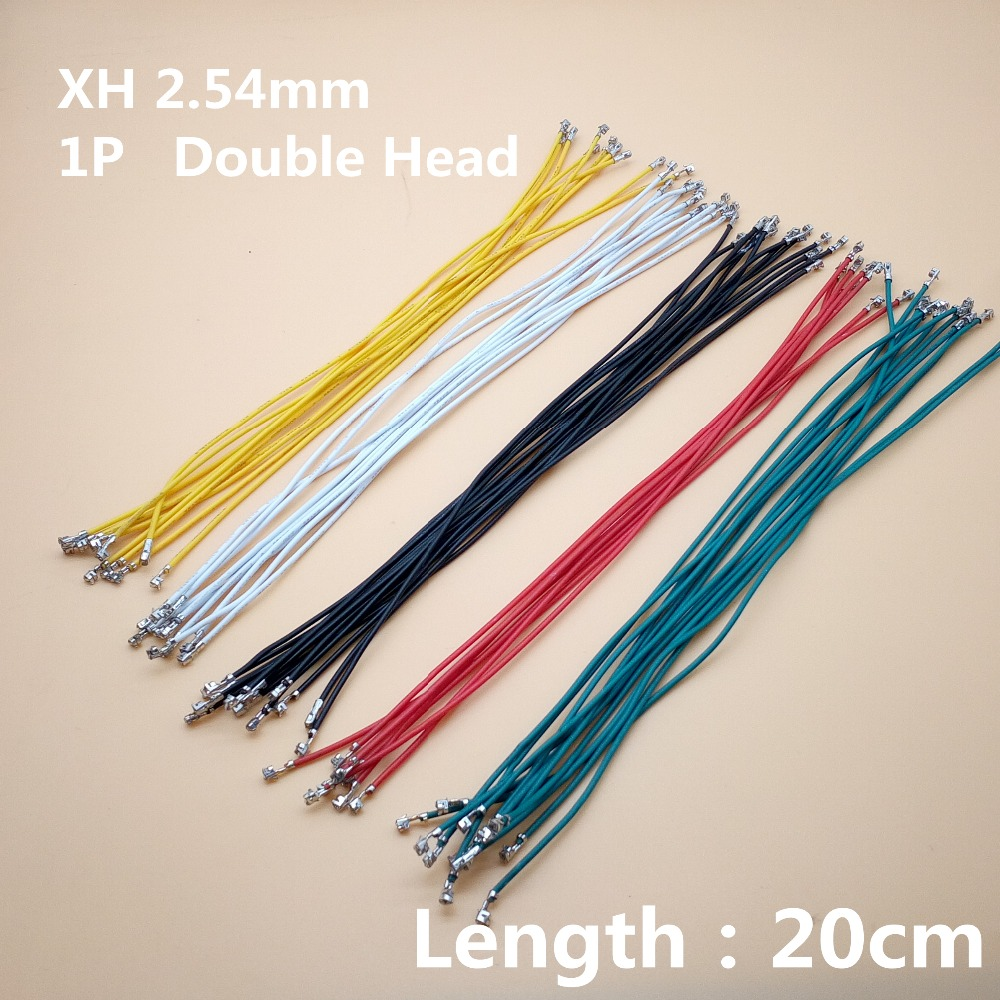 40pcs/lot 1P XH 2.54 Cable Jumper Wire Female To Female Double Head Spring Electronic Wire 24AWG 20cm Length