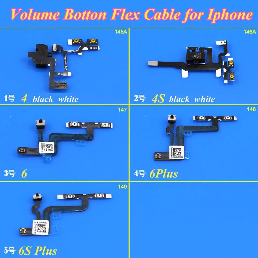 חלקי חילוף עבור Apple iPhone 4 1 חתיכה 4S 6 6 בתוספת 6 S בתוספת ג 'ק אודיו נפח לחצן החלף שקט השתק להגמיש כבלי מפתח