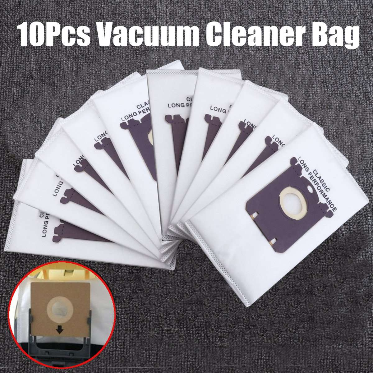 10x Vacuum Cleaner Bags Dust Bag Filter Electrolux S-bag Replacement for Philips FC9170 FC9062 FC9161 Performer etc. 10x vacuum cleaner bags dust bag filter electrolux s bag replacement for philips fc9170 fc9062 fc9161 performer etc