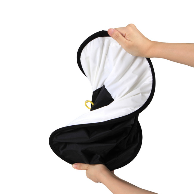 Ready Stock Collapsible Flash Round Ring Dish Diffuser Softbox Reflector For Speedlite Flash with Carrying Bag