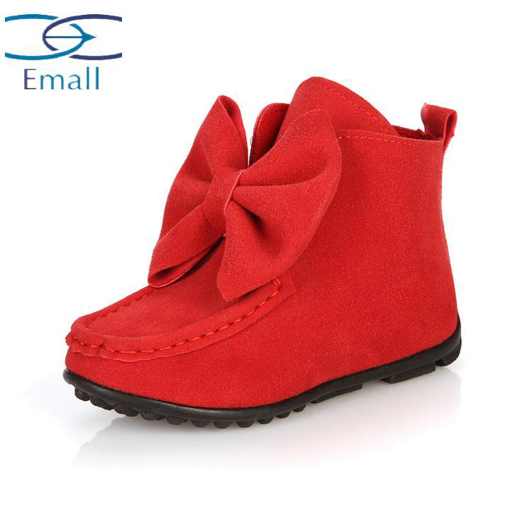 Manufacturers selling children shoes winter shoes big bow girls ...