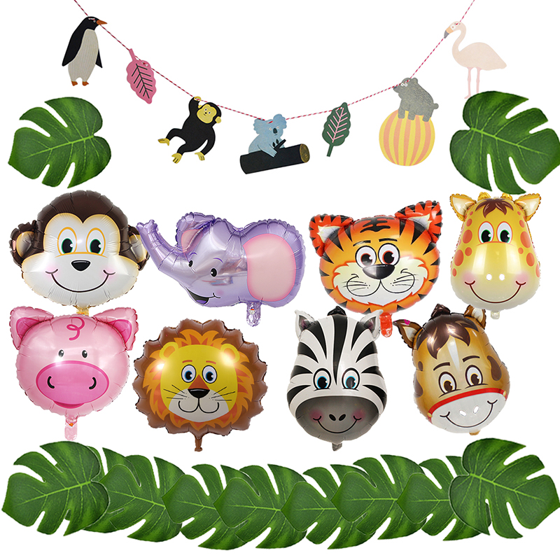 Animal Balloon Jungle Party Decor Safari Birthday Decorations Kids Decoration Ballons Accessories