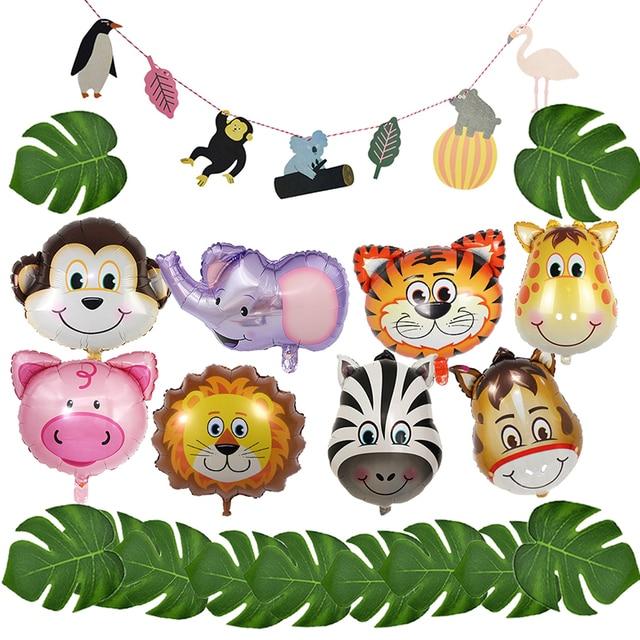 Animales globo selva fiesta decoración selva Safari fiesta cumpleaños fiesta decoraciones niños selva decoración globos Accesorios