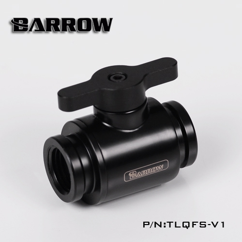 BARROW Water Valve Switch Aluminium Handle Double G1/4' Inner Female to Female Switch F to F Interface Metal V