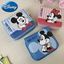 Disney Women Wallet Mickey Girl Boy Clutch Cartoon Card-Holder Purse Coin Wallets Mummy Bag Female Money PU Leather High Quality цены