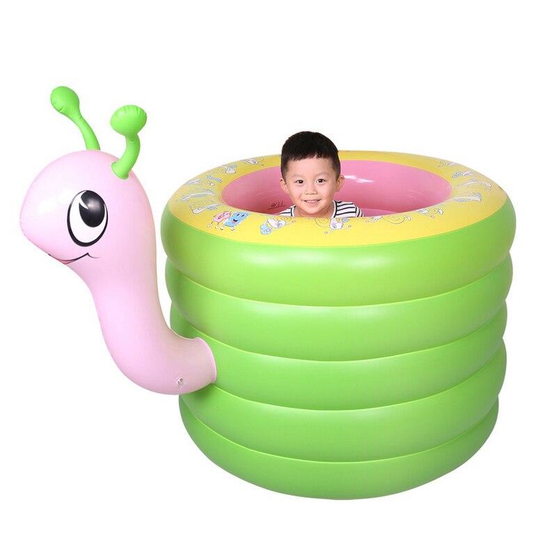 Usage domestique Bébé de Bande Dessinée Escargot Gonflable Piscine D'eau De Bain BathingTraining Aire De Jeux Piscine piscina bebe