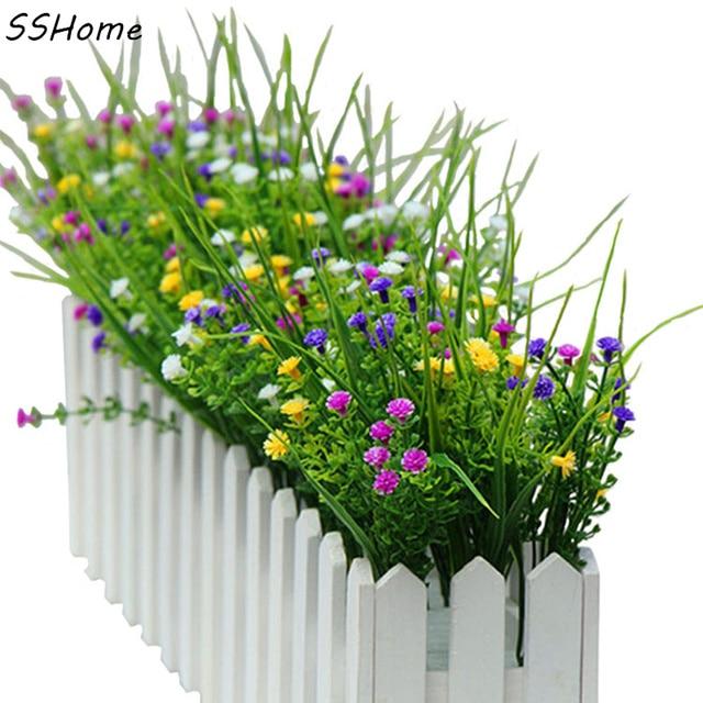 Kleine Kunstliche Grunpflanzen Gras Gefalschte Floral Kunststoff