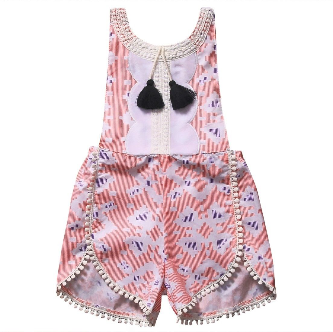 Adorable Toddler Baby Girl Floral Romper Cotton Sleeveless Jumpsuit Summer Sunsuit One-Pieces Clothes