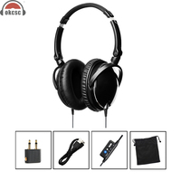 OKCSC HIFI Stereo Airline Aviation Headset Active Noise Canceling Headphones For Computer Cell Phone Mobile Phone