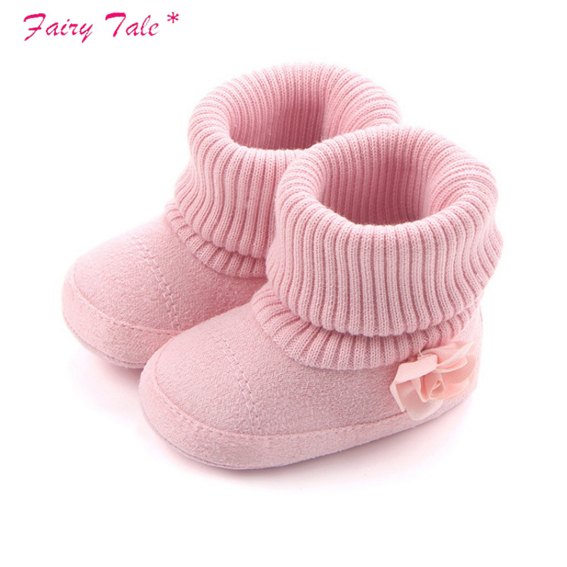 Baby Girl Shoes Autumn Winter Crib Pram Bebe First Walkers Kids Newborn Infant Toddler Super Keep Warm Flower Boots Booty(China)
