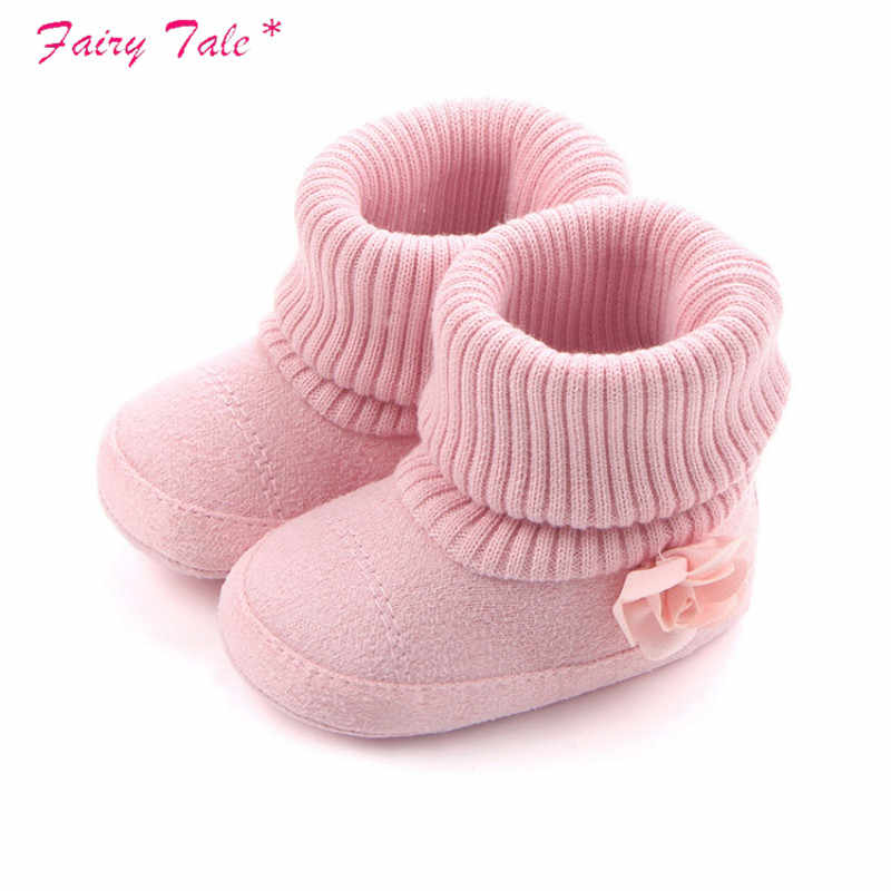 Baby Girl Shoes Autumn Winter Crib Pram Bebe First Walkers Kids Newborn Infant Toddler Super Keep Warm Flower Boots Booty
