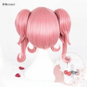 Парик Makina Nakajima розовый хвосты для Хэллоуина Ролевые волосы