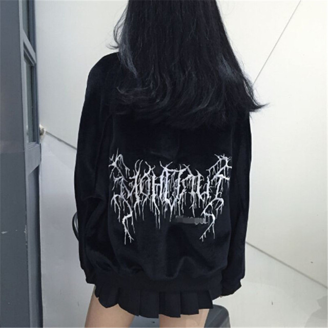 2017 new Tokyo Japan Harajuku girls street fashion women than in the winter warm Pullover Hoodie casual velvet embroidery 4
