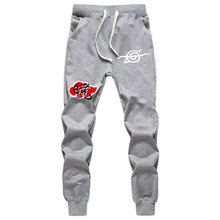 Fashion Anime Naruto Print Pants Akatsuki Member Cotton Trousers Mens Casual Joggers Sweatpants Cosplay Autumn Winter New